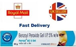 Benzoyl Peroxide Gel 5% for Acne Vulgaris Spots Blackhead Pimple Persol 30g