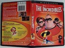 Disney Pixar The Incredibles Collectors Edition 2 Dvd Set Superhero Family Ws