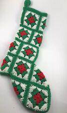 Vintage Granny Punk Hand Crochet Christmas Stocking