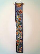 Rare Vintage Nursery Decor, Art Wall Tapestry, Inch Worm,  Growth Chart Design