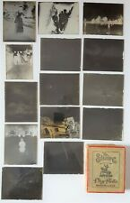 Antique Glass Photo Silver Gelatin Dry Plate Negatives Lot of 13 Box Newton MA