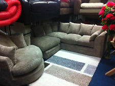 ARGOS JUMBO CORD DYLAN SOFA AND CUDDLE CHAIR SPECIAL OFFER AVAILABL IN 5 COLOURS