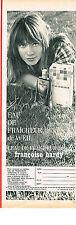 PUBLICITE ADVERTISING  1964   WEIL  eau de fraicheur FRANCOISE HARDY