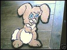 BABY EASTER BUNNY WALL HANGING IN PLASTIC CANVAS