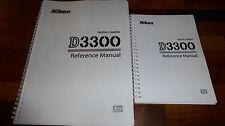 Imprimé Nikon D3300 Appareil photo numérique guide de l'utilisateur, Manuel D'Instructions Couleur A5