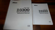 PRINTED  Nikon D3300 Digital Camera User Guide, Instruction Manual  Colour A5