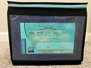 Brand new Sheex Artic Aire Max Performance sheet set in Queen (Denim)