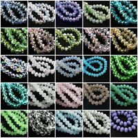 Faceted Rondelle Cut Glass Crystals Beads Size  6mm 8mm 10mm 12mm 16mm 18mm UK