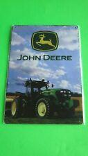 John Deere Tractor Metal Tin Sign Home Garage Wall Decor Green Farm machinery