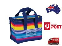 Lunch Cooler Bag RAINBOW Tote Easy Carry Picnic Food Storage Thermal Folded