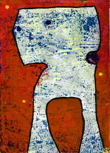 once you have brushed up against the weird ... e9Art ACEO Abstract Expressionism