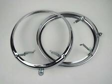 VW Beetle Bug Bus Porsche Steel Headlamp Rim Headlight Ring 2pcs T1 T2 Van Pair
