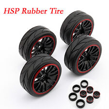 4 pcs 1/10 Tires RC Racing Gomma Per HSP HPI 9068-6081 Car Wheel Rim