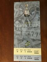 GREY CUP TICKET CFL 2002 EDMONTON UNUSED