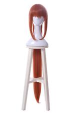 Monika Cosplay Wig Orange Straight Long Wrap Strap Ponytail Women Hair