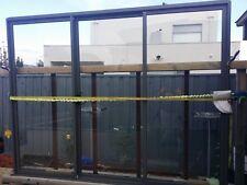 WOODLAND GRAY 2100HX2700W ALUMINIUM SLIDING DOOR WITH 6.3 CLEAR LAMINATED GLASS
