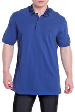 New Authentic Gucci Mens Polo Golf Shirt Blue 369224 Slim X-Large