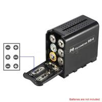 AA Dummy Battery Case Pack Power as NP-F970 for LED Video Light Panel / Monitor