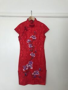 Women's vintage mandarin collar dress (cheongsam) size small