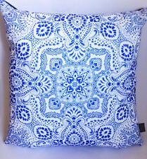 Blue Cushion | Paisley Pattern | Eco-canvas | Paisley Power