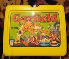 Vintage Lunchbox Thermos Garfield Jim Davis Old Plastic  Yellow Rare