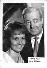 B55172 Liselotte Pulver and Meintz Runmann Couple Acteurs Actors 9x7cm