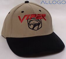 Hat Cap Dodge Viper Logo Tan H109