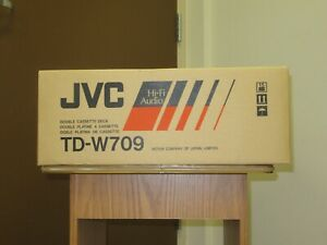JVC TD-W709 Stereo Double Cassette Player Recorder Tape Deck Player New