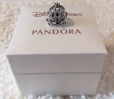 Genuine Pandora Disney Cinderella Pumpkin Carriage Charm S925 ale (Pre-owned)