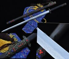 """Pattern Steel Chinese Sword """"Tang Jian""""(劍) Hollow out Alloy Fitting High Quality"""