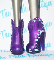 MONSTER HIGH HOME ICK ABBEY BOMINABLE DOLL OUTFIT REPLACEMENT PURPLE BOOTS SHOES