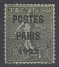 """FRANCE STAMP TIMBRE PREOBLITERE 31 """" SEMEUSE POSTES PARIS 1922 """" NEUF xx TB N127"""