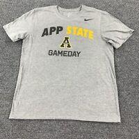 Men's Nike Appalachian State Mountaineers T-shirt Sz Large ASU App Gray football
