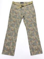 Altamont Men's Wilshire Fit Chino Pants Camo Stripes Flat Front • 34 x 32