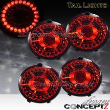 2005-2012 Chevrolet CORVETTE Z06 BRIGHT LED TAIL LIGHTS L.E.D RED LENS 4 PIECES