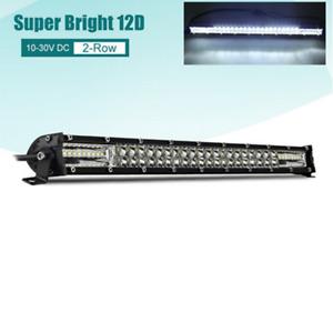 20in 300W Slim LED Work Light Bar Flood Spot Combo Offroad Driving Fog Lamp