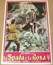 fotobusta film LA SPADA E LA ROSA - THE SWORD AND... Walt Disney fiction 1953 f