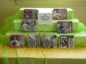2002 UPPER DECK 40 MAN ROSTER BASEBALL COMPLETE CARD SET 1182CT MCGWIRE PUJOLS