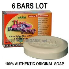 6 Bars 3 in 1 BUTTER SOAP COCOA/SHEA/MANGO Palm/Castor/Olive/Almond Oil Glycerin