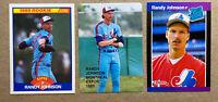 Randy Johnson Rookie Card Lot(3): 1989 Donruss, Score, & Misc. Expos, Mariners