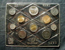 1983 ITALY rare complete official set coins UNC with silver COLUMBUS