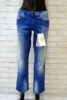 DIESEL Jeans Donna Taglia 32 46 Pants Pantalone Vita Bassa Blu Chiaro NUOVO