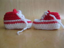 Handmade crochet knitted baby shoes for baby girls and boys from newborn size
