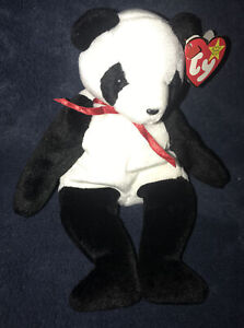 Ty Beanie Baby FORTUNE THE PANDA BEAR #4196 Collectible 1998 Plush NEW With Tags