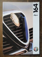 ALFA ROMEO 164 Super 1994 UK Market Prestige Brochure - 3.0 V6 24V & Lusso