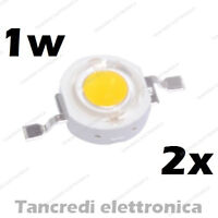 2X Chip led 1W bianco caldo 350mA 3V 3.6V alta luminosità lampadina lampada bulb