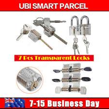 7x Transparent Locks Padlock Cutaway Locksmith Skills Durable Acrylic Plastic AU
