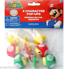 SUPER MARIO CHARACTER POP UPS (6) ~ Birthday Party Supplies Favors Toys Luigi