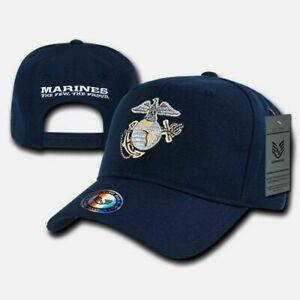New U.S Military Marine Corps Embroidered USMC Licensed Baseball Hat Cap
