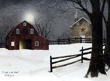 Billy Jacobs A Light in the Stable Farm Barn Print 24 x 18